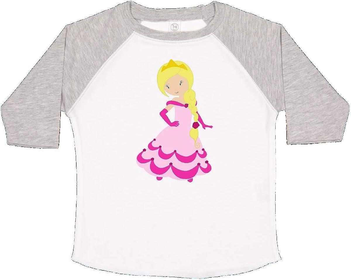inktastic Cute Princess Blonde Hair Princess in Pink Dress Toddler T-Shirt
