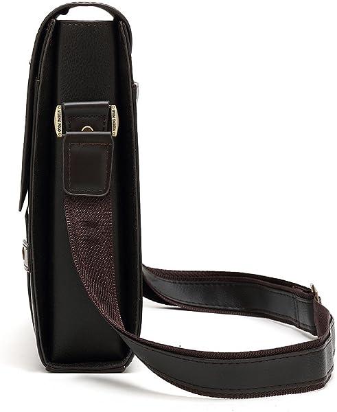 0e31fb1aec080 Mioy Vintage Umhängetasche herren Schultertasche Klein Handtasche Messenger  Bags Herrentasche Leder Mini Ledertasche Crossbody Tasche (