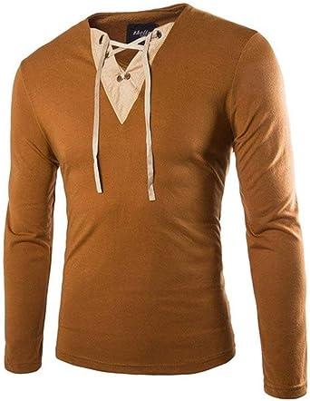 Saoye Fashion Camisa De Cuello En Cuello con En V Ropa V ...