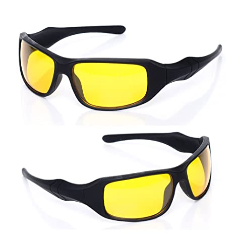 a45b28c55f Kawachi Yellow Lens Night Vision Glasses and Black for Day Time Driving  (Multicolour) - Set of 3  Amazon.in  Clothing   Accessories