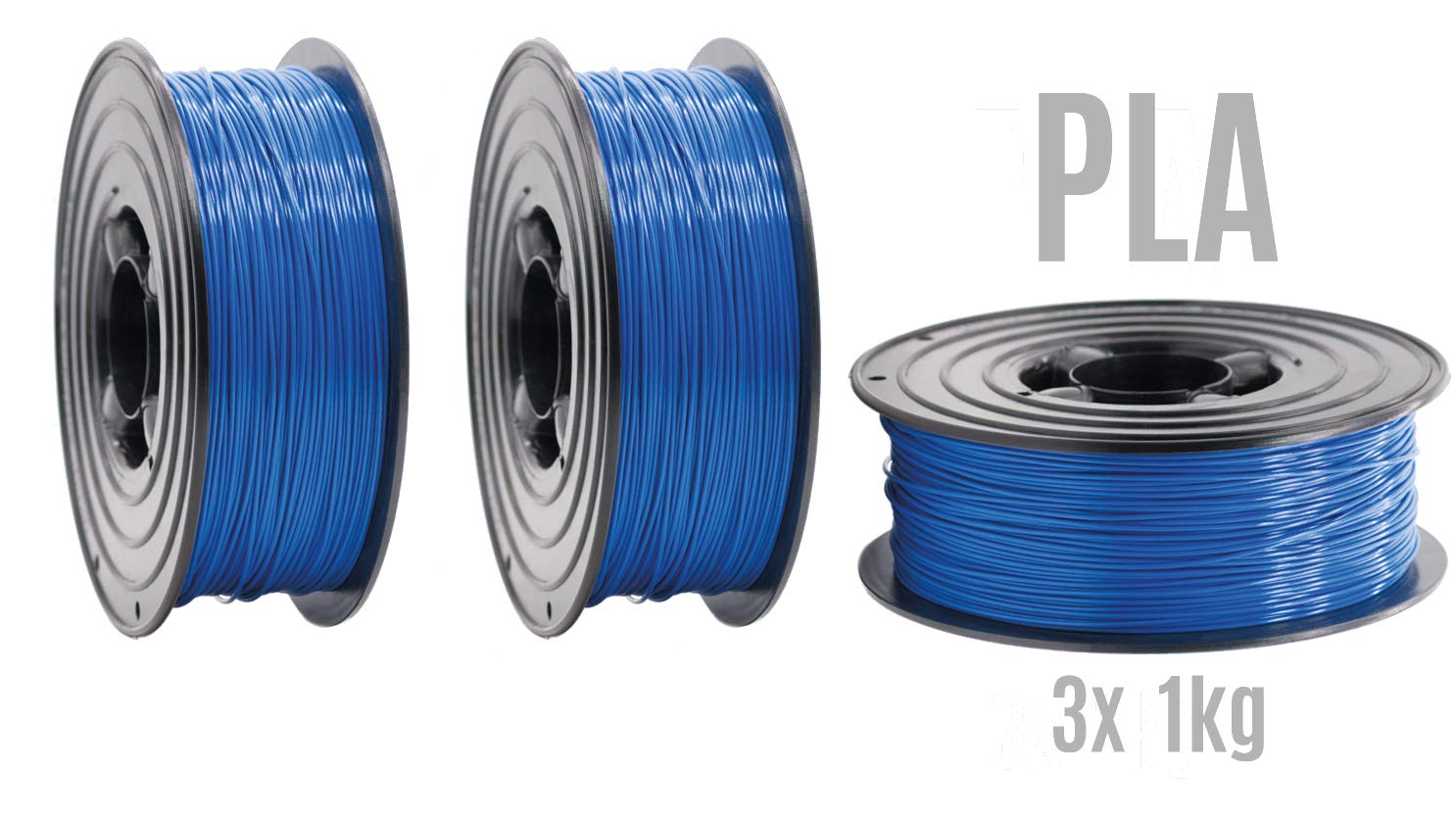 Filamento PLA para impresora 3D, 1,75 mm, 3 rollos de 1 kg, color ...