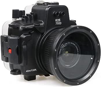 Polaroid Carcasa Impermeable submarina SLR Dive para la Canon T6I ...