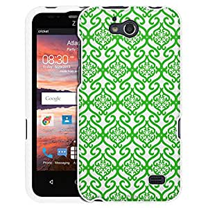 ZTE Overture 2 Case, Snap On Cover by Trek Victorian Scroll Floral Green on White Case