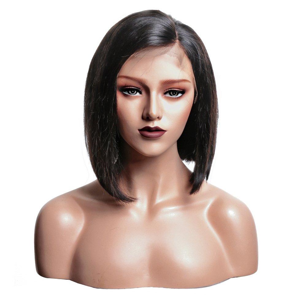 f670fbe6258 Amazon.com : Glueless Lace Front Wigs 100% Brazilian Human Hair ...