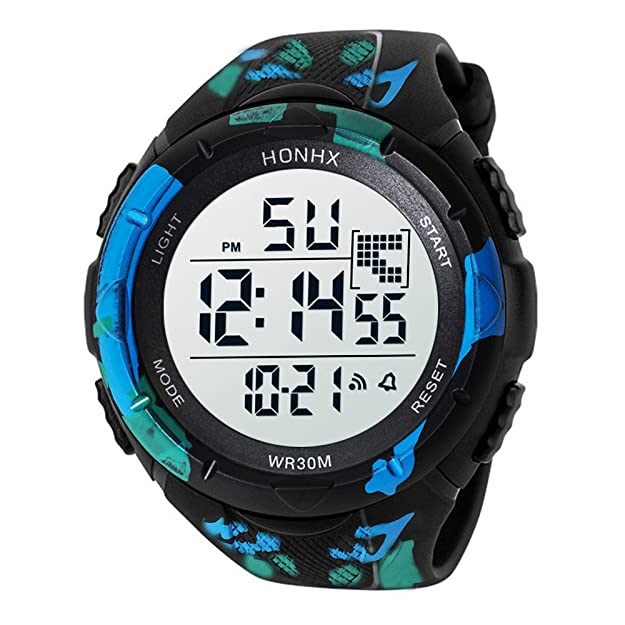 Amazon.com: XGUMAOI Cool Watches Men LED Analog Digital Military Army Sport Waterproof Wrist Watch (Green): Jewelry