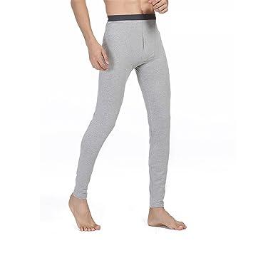 HMILYDYK de hombre mid-weight sudor térmico para hombre calzoncillo largo suave Knit invierno cálido