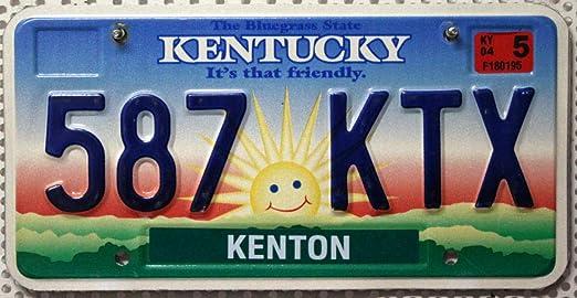 Usa Nummernschild Kentucky Us Kennzeichen Motiv Sonne Blechschild Auto