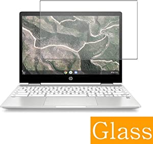 """Synvy Tempered Glass Screen Protector for HP Chromebook X360 14b 14"""" Visible Area Protective Screen Film Protectors 9H Anti-Scratch Bubble Free"""