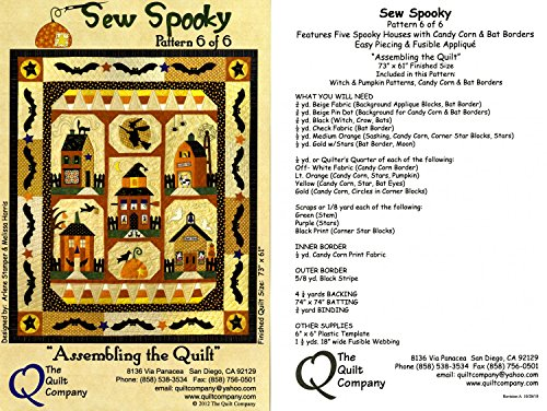 Sew Spooky Quilt Halloween Patterns & Accessory Pack by The Quilt Company 73