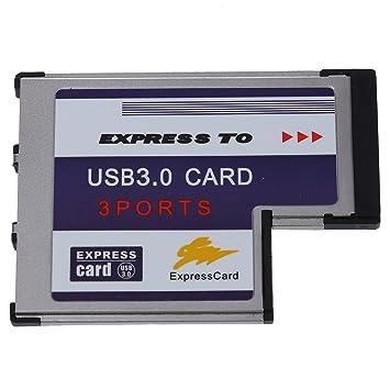 TOOGOO(R) 3 USB 3.0 puerto expreso Tarjeta 54mm PCMCIA Express Card para el ordenador portatil NUEVO: Amazon.es: Electrónica