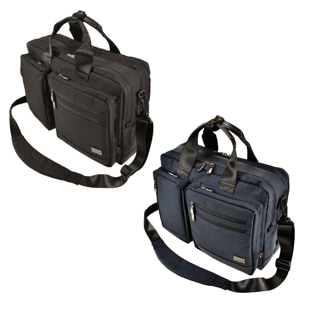 ブリーフケース メンズ 3way ビジネスバッグ 仕事 バジェックス コマンド ブリーフケース 3WAY L 23-5604 B078ZH2M44 ブラック