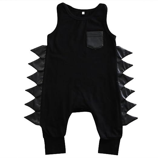 34de142bf53a Baby Boys Girls Cotton Sleeveless Dinosaur Harem Bodysuit Romper Jumpsuit  (70(0-6M