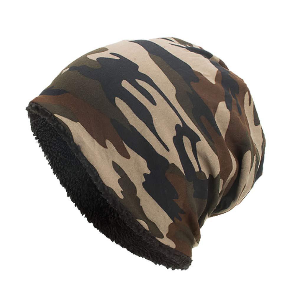 Saihui_Stricken Hüte Unisex Langes Beanie Mütze Herren Damen Winter Warm Long Slouch Tarnung Beanie Hut Hat Cap, Weiß Kaffee Schwarz Armeegrün. ❇❇ Fashion Warme Mütze❇