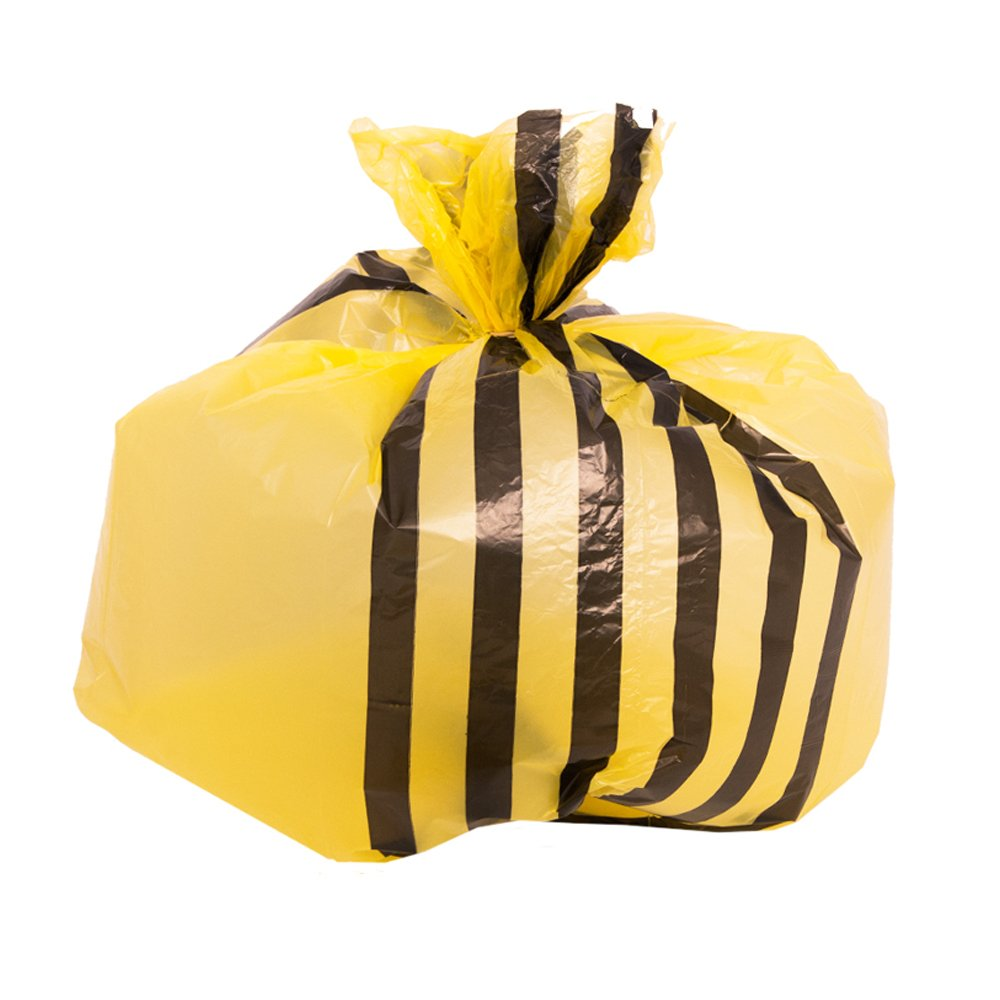 Bolsas de basura con rayas de tigre amarillas, de ...