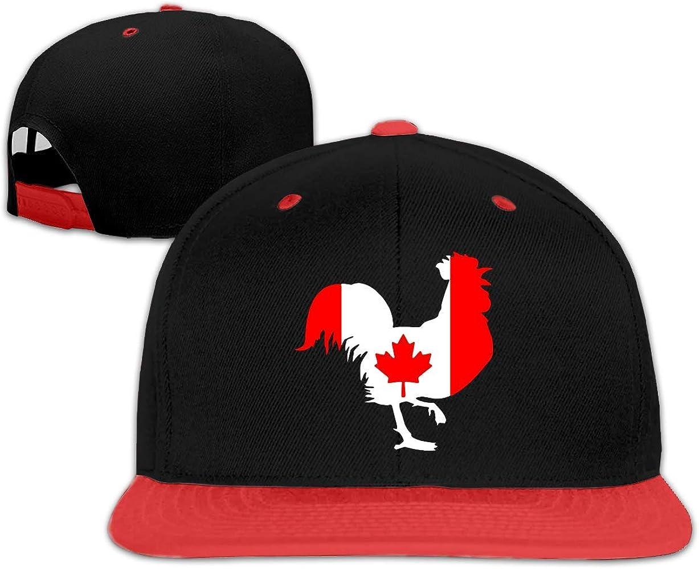chipo Gallo con Bandera de Canadá Gorras de béisbol Planas Unisex ...