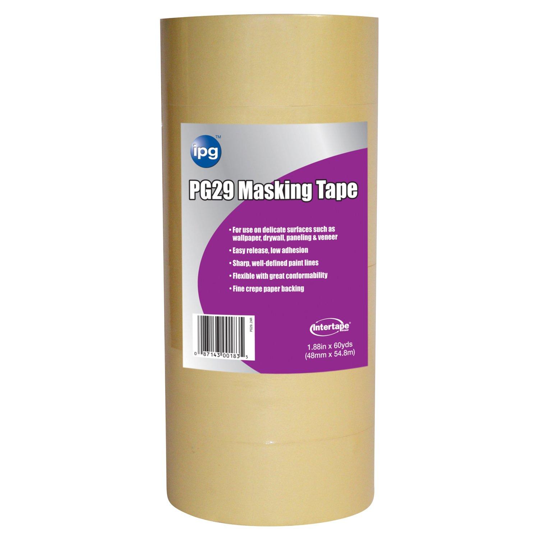 Intertape Polymer Group PG29.24R Low Tack Masking Tape, 1.88-Inch x 60-Yard, Natural