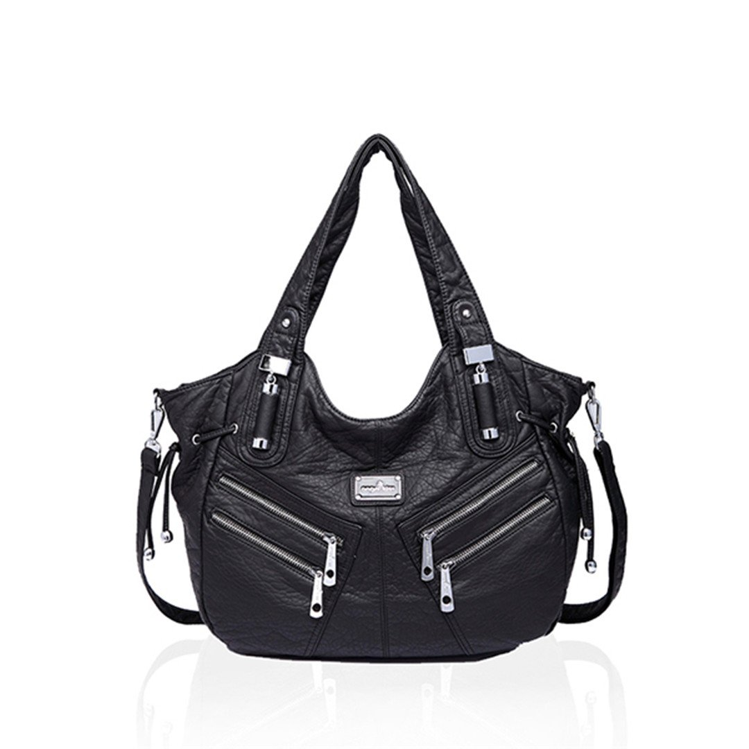 Women Hobo Shoulder Tote Pu Leather Handbags Fashion Large Capacity Bags