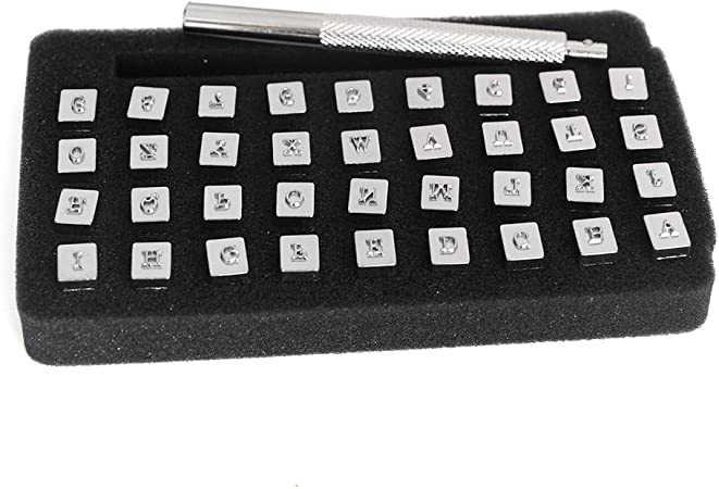 36pcs Stamps Letters Alphabet Numbers Set Punch Steel Metal Tool Craft 3mm