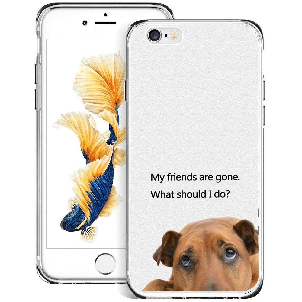 de5c793e13 Amazon.com: iPhone 6s 6 Case, Slim-Fit Flexible Design Stupid Dog Printed  Shock-Proof Soft TPU and Rubber Protective Case for iPhone 6s 6-Clear: Cell  Phones ...