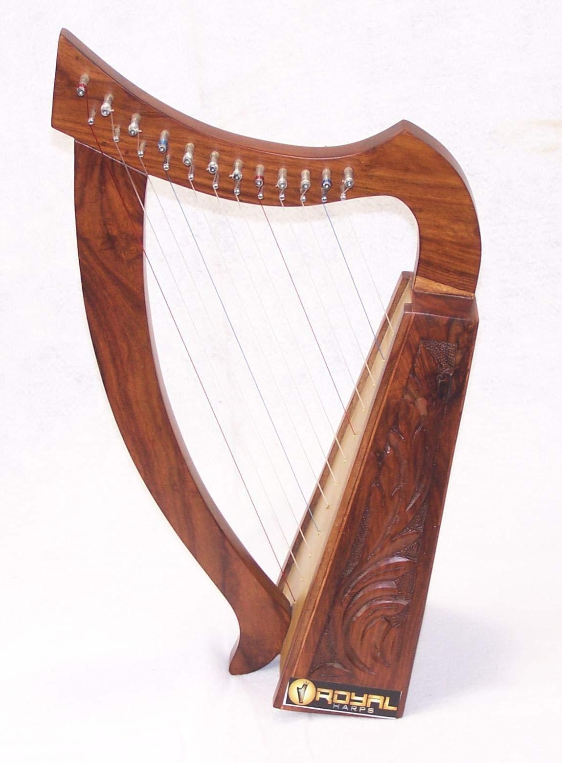 Celtic Irish Baby Harp 12 Strings Solid Wood Free Bag Strings Key by ROYAL HARPS (Image #6)