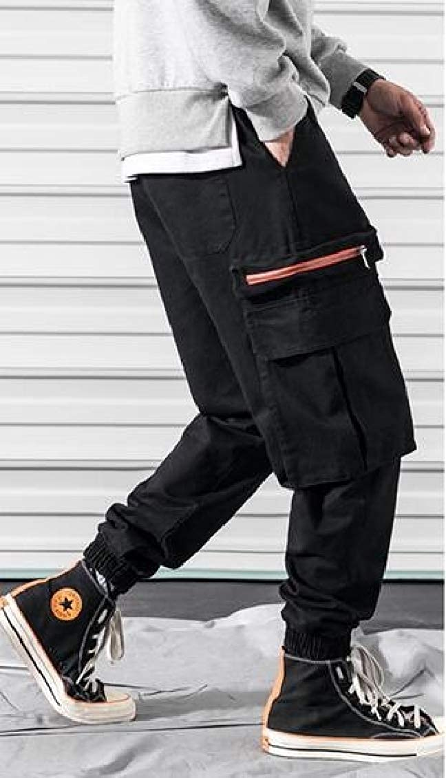 Sweatwater Mens Harem Outdoor Multi Pockets Trousers Jogging Cargo Pants
