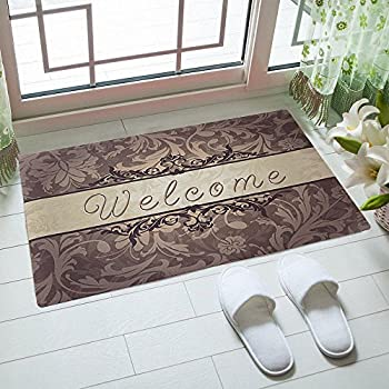 Amazon Com Karola Indoor Doormat Welcome Mat Low Profile Front