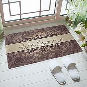 Amazon Com Rubber Doormat Indoor Low Profile Non Slip