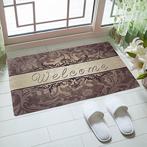 "Cheap  Rubber Doormat Indoor Low Profile Non-Slip Washable Welcome Mat 18""x30"" for Front.."