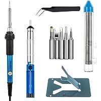Vastar Soldering Iron Kit, Full Set 60W 110V Soldering Welding Iron Kit - Adjustable Temperature, 5pcs Different Tips…