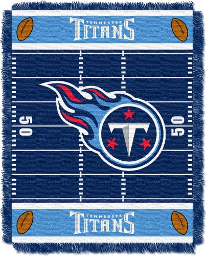 (The Northwest Company Officially Licensed NFL Tennessee Titans Field Bear Woven Jacquard Baby Throw Blanket, 36