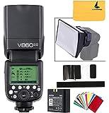 【正規品 技適マーク付き】GODOX V860II-C 2.4GワイヤレスE-TTL IIリチウムイオンカメラフラッシュスピードライト対応Canon 6D 50D 60D 1DX 580EX II 5D Mark II III(V860II-C)