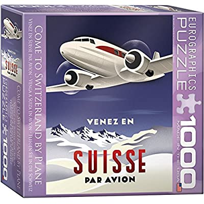 Come To Switzerland By Plane Puzzle, 1000-piece: Toys & Games