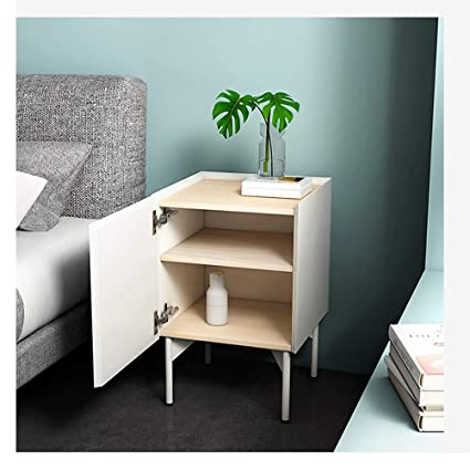 Amazon.com: LRZS Nordic Bedside Table Small Apartment Modern ...
