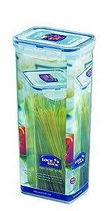 LOCK & LOCK Airtight Rectangular Tall Food Storage Container, Pasta Box 67oz