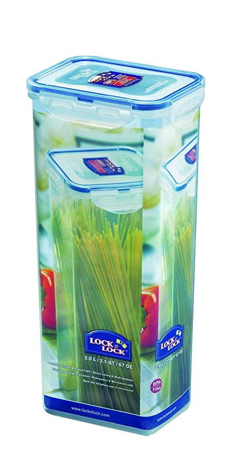 Merveilleux LOCK U0026 LOCK Airtight Rectangular Tall Food Storage Container, Pasta Box 67oz