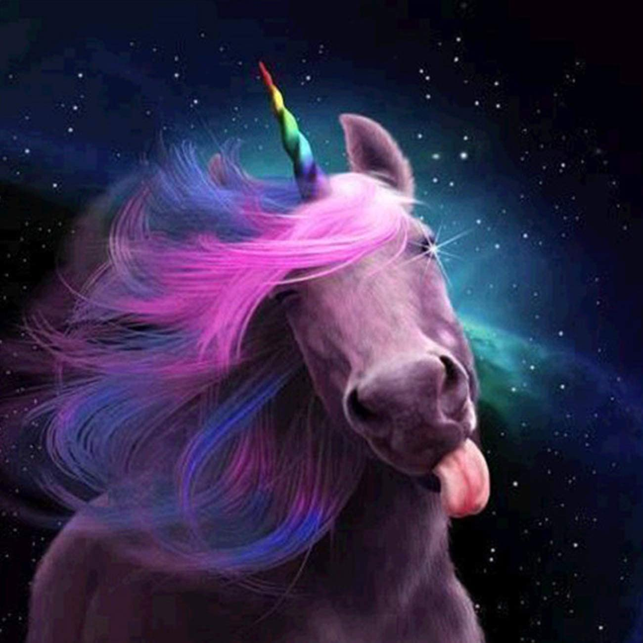 DIY Unicorns Paint with Diamonds Art Rhinestone Embroidery Decor 20X25inch SKRYUIE 5D Diamond Painting Colorful Unicorns Full Drill by Number Kits for Kids Adults