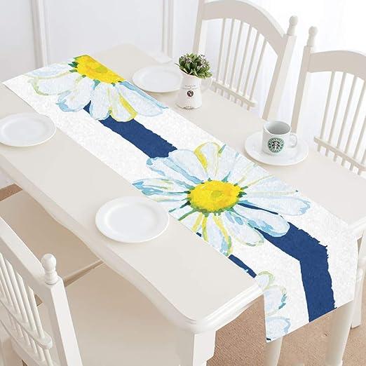 Camino de Mesa Pascua Floral Dorado Blanco Amarillo Amor Margarita ...