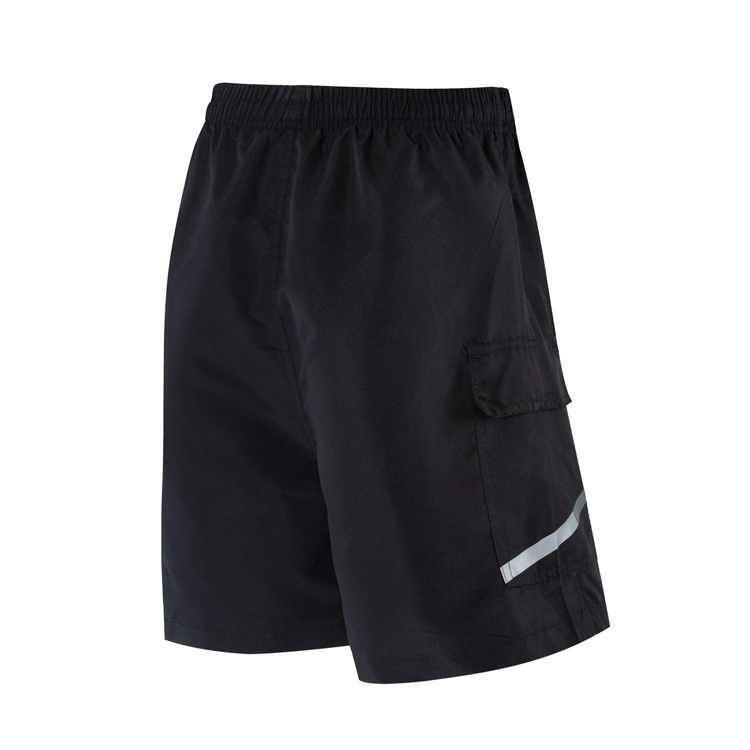 Bpbtti Mens Baggy MTB Mountain Bike Shorts with Removable Biking Bicycle Cycling Padded Liner Short