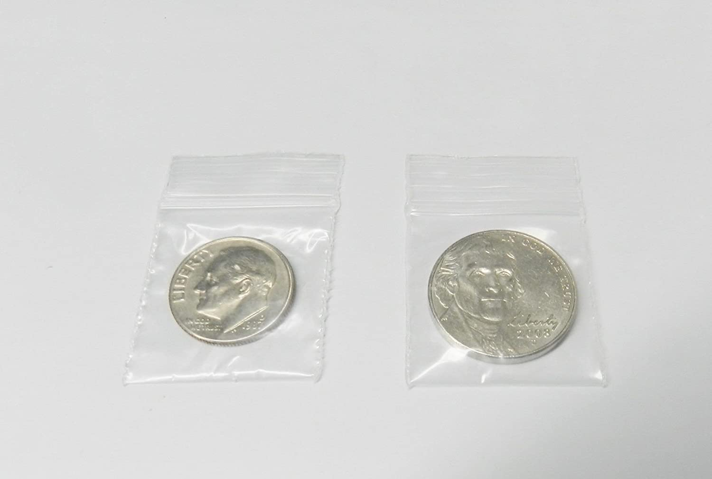 1000 Ziplock Bags Reclosable 2mil Clear Poly 1 x 1 Zip Seal Mini 1x1 Baggies