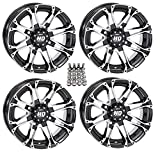 STI HD3 ATV Wheels/Rims Machined 12'' Honda Rincon Yamaha Rhino Kawasaki Brute Force Suzuki KingQuad (4)