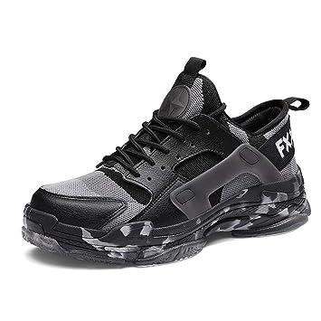 YXLONG Otoño Camuflaje Zapatillas Zapatos De Gran Tamaño De Los Hombres 46 Volando Tejido Suela De Camuflaje: Amazon.es: Deportes y aire libre
