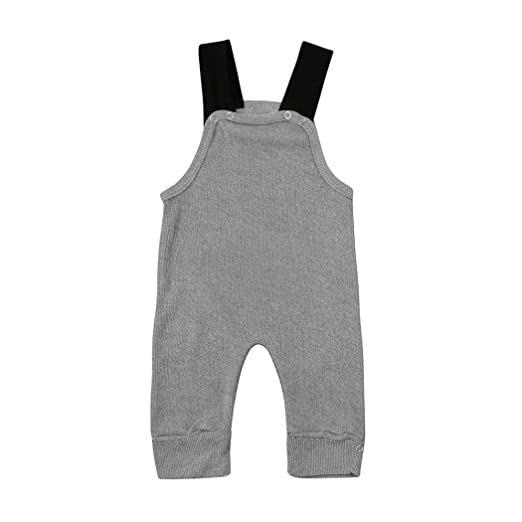 e1e448430f02 Amazon.com  Staron Toddler Baby Boys Girls Strap Knit Rompers ...