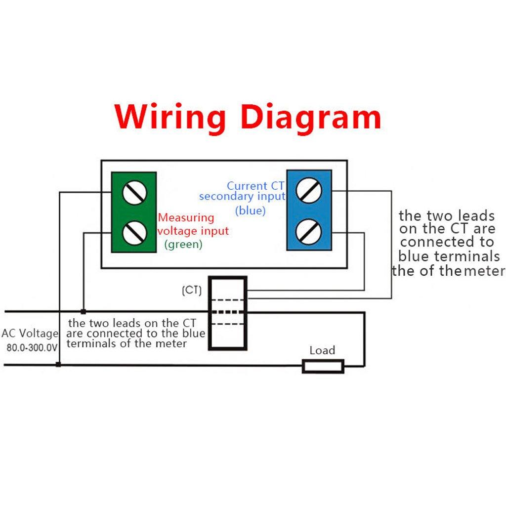 Segolike 80 300v Lcd Display Digital Multimeter Ammeter Voltmeter Ac Voltage Wiring Wattmeter 100a Ct Home Improvement