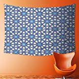 SOCOMIMI Polyester Tapestry Wall Hanging Collection Traditional Moorish Turkish Tangled Pattern and Geometric Lines Mosque Islamic Art Print Wall Decor for Bedroom Living Room Dorm