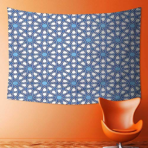 SOCOMIMI Polyester Tapestry Wall Hanging Collection Traditional Moorish Turkish Tangled Pattern and Geometric Lines Mosque Islamic Art Print Wall Decor for Bedroom Living Room Dorm by SOCOMIMI