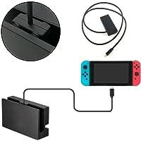 Cable de extensión para consola Nintendo Switch, 1m, USB-C tipo C macho a hembra cable de extensión de audio de carga y sincronización para Nintendo Interruptor Switch, color negro, segunda generación , Negro