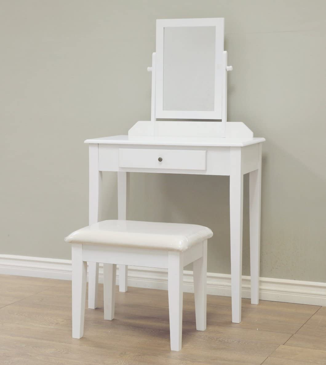 Frenchi Home Furnishing Vanity Set, One Mirror, White