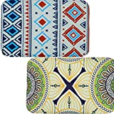 SET OF 2 NON-SLIP INDOOR FLOOR MATS - Beautiful Accent Area Rugs for Home, Kitchen or Bathroom Decor, Kaleidoscope Edition