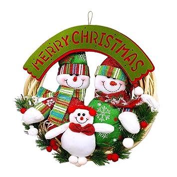 AIHOME Weihnachten Deko Kranz Schneemänner Hängende Verzierung Für Haus,  Tür, Wand, Kaminsims