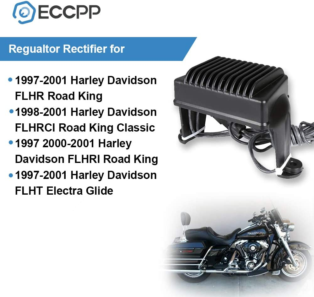 Oumurs Aluminum Voltage Regulator Rectifier for Harley Davidson Touring Models 1997-2001 FLHT 1997-2003 FLHRCI 1999-2003 Replaces 74505-97 7450597 H0597